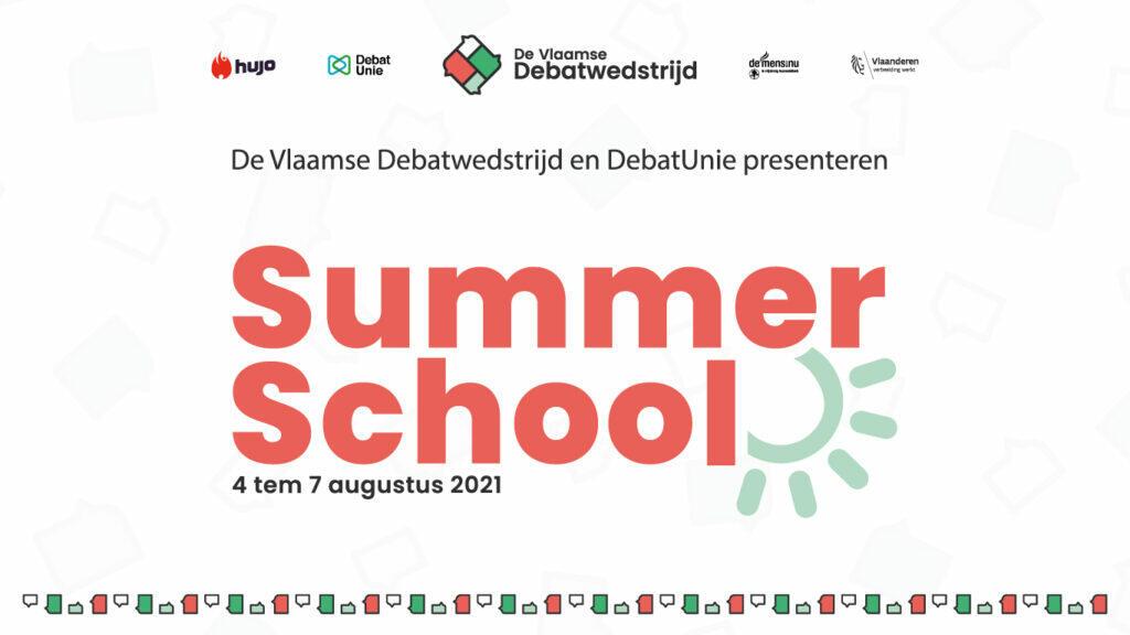 De Vlaamse Debatwedstrijd lanceert: Summer School (ism Debatunie)
