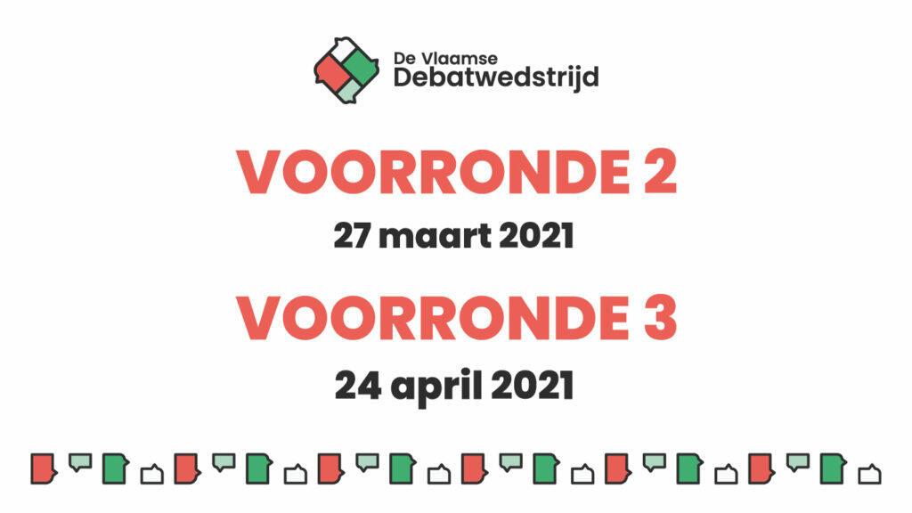 Nieuwe online voorrondes van De Vlaamse Debatwedstrijd gepland!